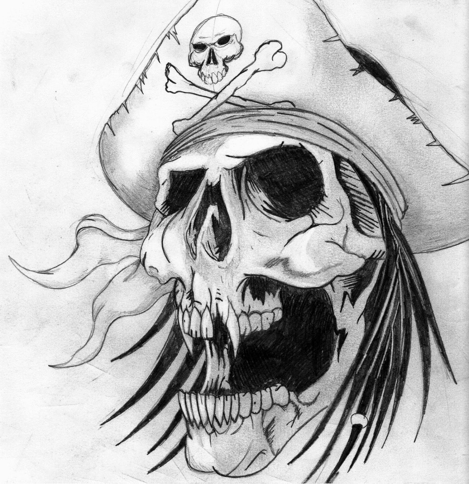 skull tattoo pirate